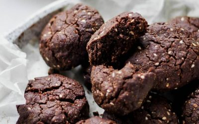 DOUBLE CHOCOLATE SESAME COOKIES
