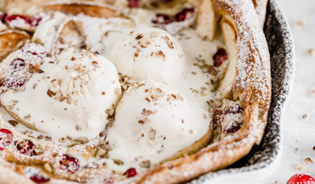 CRANBERRY & APPLE DUTCH-BABY