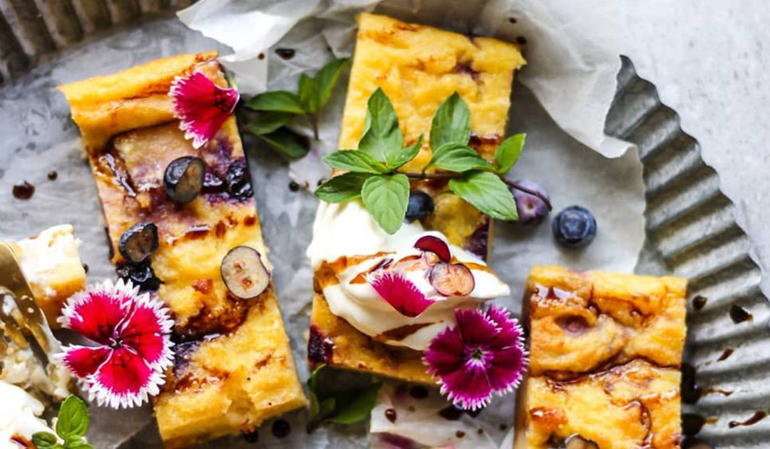 HONEY & BLUEBERRY BAKED POLENTA