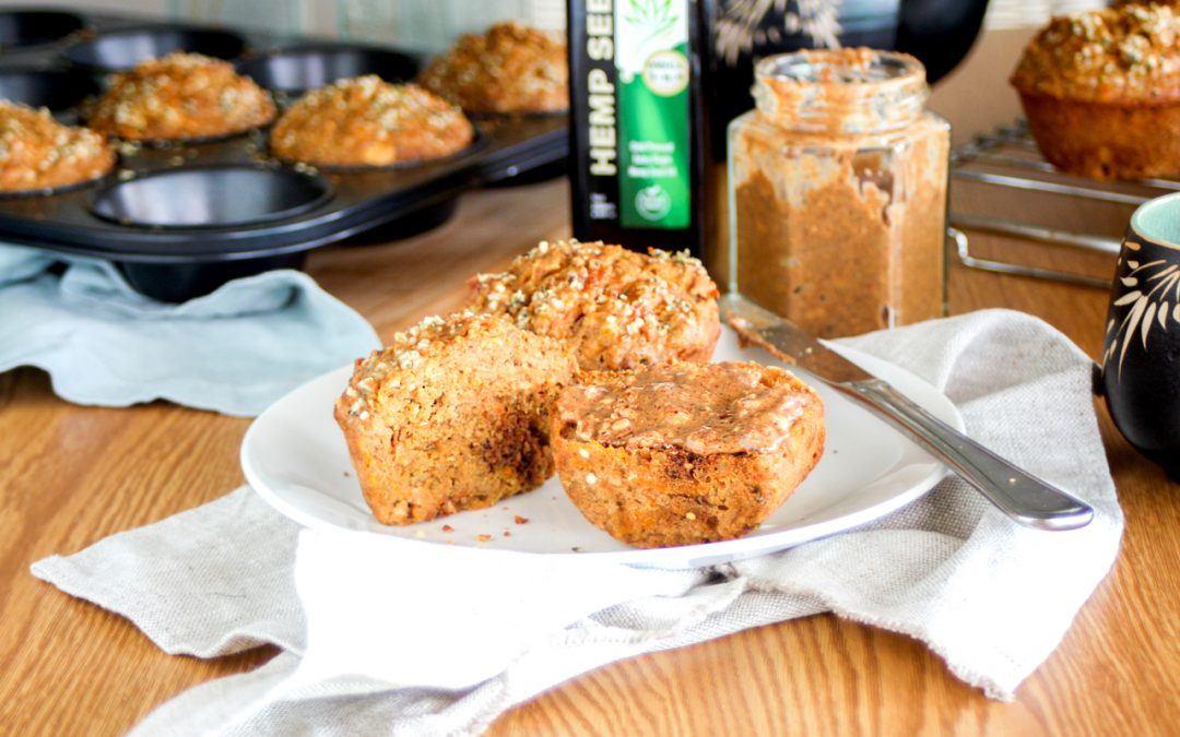 CARROT & HEMP BREAKFAST MUFFINS