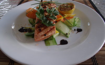 CHAR GRILLED SPICED SALMON