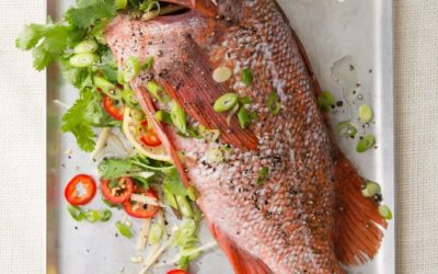 Whole Fish with Citrus, Herbs & Ginger